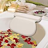 APUKI Premium Quality® - Badewannenkissen - Für optimale Schulter und Nacken Polsterung - Wannenkissen für extra komfortables Baden - Pflegeleichtes Badekissen für Badewanne mit 7 starken Saugnäpfen
