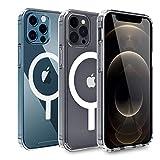 AICase Transparente Phone 12 Pro Max Hülle mit integriertem Magneten für 6,7 Zoll 2020