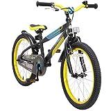 BIKESTAR Kinderfahrrad 20 Zoll für Mädchen und Jungen ab 6 Jahre | 20er Kinderrad Mountainbike | Fahrrad für Kinder Schwarz & Gelb | Risikofrei Testen