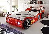 Autobett Energy Kinderbett Spielbett in rot mit LED-Beleuchtung