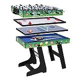 Faltbarer Spieltisch (4 in 1): Billard/Kicker/Air Hockey/Tischtennis