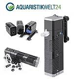 AquaOne Chj-602 Aquarium Innenfilter Regelbar Bis 250 Liter Aquarien Nano Cube Eckfilter Pumpe Filter Schwammfilter Wasserfilter Leise