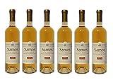 6x Griechischer Weißwein Samos Vin Doux je 750ml Muscat Muskat Wein aus Griechenland Likörwein Weiß Wein Spar Set + Sachet 10ml Olivenöl aus Kreta