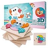 MOIMOINS Holzpuzzle kinderspielzeug ab 2 3 Jahr Montessori Spielzeug holzspielzeug Frühes Lernspielzeug MM-P-06