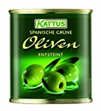 Kattus Spanische grüne Oliven, entsteint, 8er Pack (8 x 200 g)