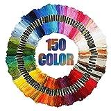 Sooair Strickgarn, 100 /150/200 Farben Anchor Stickgarn 100% Baumwolle Embroidery Floss ist Sehr gut Geeignet für Bänder, Sticken, Verknoten, Basteln, Kreuzstich Stickgarn Embroidery (150pcs)