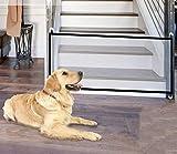 BTkviseQat Hundebarrieren,Tragbar Hunde Türschutzgitter Faltbar Hundeschutzgitter Treppenschutzgitter Absperrgitter für Haustier Hunde Katzen 180 * 75CM