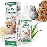 SEGMINISMART Ohrenreiniger für Hunde,Beruhigung und natürliche Pflege bei,Schmutz und Ablagerungen Sanft und Auflöst,Entzündungen,Eliminiert Jucken