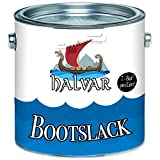 Halvar Bootslack Yachtlack Bootsfarbe Yachtfarbe PU-verstärkt für Holz verstärkt, extrem belastbar und hochelastisch Schiffslackierung (2,5 L, Weiß (RAL 9010))