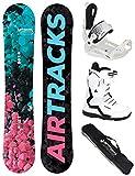 Airtracks Damen Snowboard Set - Board Polygonal 144 - Softbindung Master - Softboots Savage W 40 - SB Bag