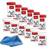 6 Stk. Miele Entkalker + 6 Stk. Reiniger für Waschmaschinen und Geschirrspüler (2 x 6 Stück) incl. MARETeam Poliertuch