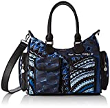 Desigual Damen Bag Rep Blue Frien Umhängetasche, Blau Indigo, 15.5x25.5x32 cm