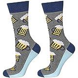 soxo Herren Bunte Hohe Bier Socken | Größe 40 – 45 | Witzige Motivsocken aus Baumwolle | Lustige Geschenk für Frauen und Männer