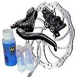Magura MT5 Bremsenset, Bremse - Bremsscheibe - Centerlock-Adapter - Hydrauliköl MT5, HC203mm, Entlüftungs-Kit