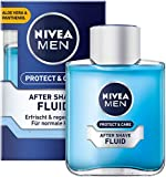 NIVEA MEN Protect & Care After Shave Fluid im 4er Pack ( 4 x 100 ml), beruhigendes After Shave, Hautpflege nach der Rasur mit Aloe Vera und Panthenol