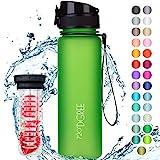 """720°DGREE Trinkflasche """"uberBottle"""" softTouch +Früchtebehälter - 500ml - Auslaufsicher, BPA-Frei - Für Kinder, Schule, Sport, Fitness - Schlanke Tritan Wasserflasche - Leicht, Bruchsicher, Nachhaltig"""
