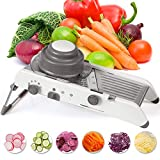 Kintty Mandoline Schneider 6 in 1 Edelstahl Spiralizer Gemüseschneider Gemüsereibe Mandoline Gemüsehobel Obst- und Gemüseschneider Zwiebelschneider Ideal zum Hobeln von Obst und Gemüse