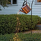 Gießkanne Lichterkette, Star Shower Garden Art Gießkanne Mit Lichtern, Star Shower Garden Art Light Decoration Led Lamp ​zum Ausgießen Von Sternenhimmel, Gartenarbeit Rasenlampe Im Freie
