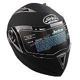 Estink Motorradhelm, Genehmigt Integralhelm Fullface Klapphelm Motorrad Roller Sturz Helm, mit Sonnenblende, 63-64 cm (XXL, Matt-schwarz)