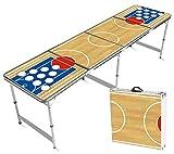 Offizieller Basketball Beer Pong Tisch | Premium Qualität | Offizielle Maße für Wettbewerb | Beer Pong Table | Kratz und Wassergeschützt | Partyspiele | Trinkspiele | House Party | 100% Spaß