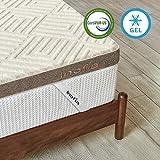 Inofia Topper 90x200 cm Gel Memory Foam Topper Matratzenauflage mit Linen Bezug für Matratzen oder Sofa |2cm RG50 Gelschaum+6cm Reliefoam|waschbar Bezug|100 Nächte Probeschlafen|10 Jahre Garantie