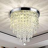 DLLT Modern kronleuchter Kristall K9 mit Elegantem Design, Rund Acryl, 4 Lampenfassungen, Schöne Kristall deckenleuchte für Flur, Wohnzimmer, Schlafzimmer, Esszimmer, Hotel, Restaurant