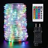 20m LED Schlauch Lichterkette Außen, 200 LEDs Lichterschlauch IP68 Wasserfest mit EU-Stecker,16 Farben LED Schlauch Lichterkette Strombetrieben mit Fernbedienung für Garten Innen Outdoor Party
