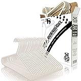BABYLOVIT 30 Stück Baby Kleiderbügel | starke & formstabile Kinderkleiderbügel | für Kinder & Babykleidung 0-6 Jahre | Babykleiderbuegel weiß