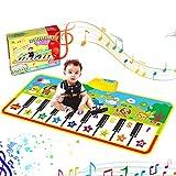 Musikmatte,Kinder Klaviermatte Tanzmatten Piano Mat Spielzeug Matte Keyboard Klavier Playmat Musik Boden Berühren Sie Spielmatte für Babys Kinder Kleinkind Jungen Mädchen Geschenk
