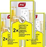 PIC Lebensmittel-Mottenfalle - Dreierpack = 6 Stück - Pheromonfalle für die Küche und Vorratsräume - Versand nach Österreich mögich