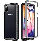 OWKEY Kompatibel mit Samsung Galaxy A10 Hülle 360 Grad Schutzhülle Bumper Case Transparent Cover mit eingebautem Displayschutz Stoßfest Ganzkörper Handyhülle für Samsung Galaxy A10, 6.2 Zoll