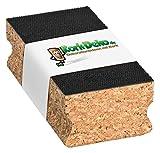 Kork-Schleifklotz mit KLETT-Verschluss (Haftung mit Klett-System) 120x40x60 mm   Schleifblock/Handschleifklotz aus Kork als Halterung für Schleifpapier, Schmirgelpapier, Sandpapier von Kork-Deko