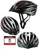 Fahrradhelm Dunlop HB13 für Damen, Herren, Kinder, EPS Innenschale, Abnehmbares Visier für optimalen Blendschutz, Leichter MTB City Bike Helm mit Schnellverschluss (S (51-55cm), Rot)