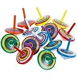 Faburo 14 Stück Kreisel aus Holz, Holzkreisel Spielzeug (14)
