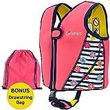 Limmys Premium Neopren Schwimmweste, ideale Schwimmhilfe für Mädchen, EXTRA Kordelzugtasche inklusive