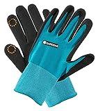 GARDENA Pflanz-/ Bodenhandschuh 7/S: Nitril-Oberfläche auf der Handfläche schützt vor Feuchtigkeit, Unkraut jäten und einpflanzen, mobile touch zur Smartphone Verwendung, Oeko-Tex geprüft (11510-20)