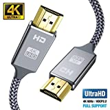 Hdmi Kabel 2Meter 4K@60Hz, Snowkids Highspeed Ethernet 18Gbps,Vergoldete Anschlüsse mit Audio,Kompatibel mit Video 4K UHD 2160p,HD 1080p,3D Xbox PS3/4