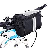 Betuy Fahrrad Lenkertasche Wasserdicht, 3.5L Fahrradtasche Handy Rahmentasche Gepäckträger Tasche mit Reflektierenden Streifen und PVC Touchscreen für MTB/Fahrrad Karte Telefon Wasserflasche