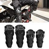 Motorrad Knieschoner und Ellenbogenschoner Set - 4 Stück verstellbare knie schutz und ellenbogenschützer erwachsene Rüstung Motorrad Schutzausrüstung für Motocross Enduro Racing Radfahren