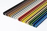Rollmayer glänzend einläufig Gardinenschiene aus Aluminium (Weiß Gardinenschiene mit Faltenlegehaken, 120cm) Deckenbefestigung mit SMART-klick Montage, Innenlaufschiene für Vorhänge