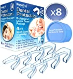 Runesol 8 x Zahnschutz gegen Zähneknirschen & Schnarchen, Knirscherschiene | Aufbissschiene gegen TMJ, Bruxismus und Zubeißschutz für die Zähne, Easy Mould Technology, Inkl. Aufbewahrungsbox