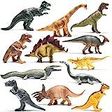 Prextex 12er-Packung realistisch aussehende 25cm große Dinosaurier aus Kunststoff