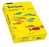 Papyrus 88042392 Drucker-/Kopierpapier farbig, Bastelpapier: Rainbow 120 g/m², A4 250 Blatt Buntpapier, matt, intensivgelb
