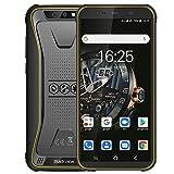 Blackview BV5500 Plus (2020) Günstige Outdoor Smartphone ohne Vertrag, Android 10,0 5,5 Zoll Display 3GB RAM+32GB Speicher, 4400mAh Akku, IP68 Wasserdicht, NFC, Face ID, 4G Dual SIM Handy (Gelb)
