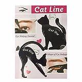 Sikenuo Cat Eyeliner Schablone, PVC Material, Smoky Eyeshadow Vorlagenschablone für Applikationen, Katzengeformte Eyeliner Schablonenvorlage