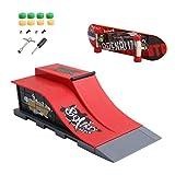 Morningmo Skatepark Rampen Set Rampenteile Für Tech-Deck Finger Skateboard Griffbrett Ultimative Parks