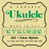 D'Addario J65 Satz Nylonsaiten für Ukulele, Dulcimer, Tenor Gitarre, Oud