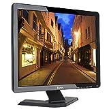 Eyoyo 17' Zoll Monitor 1280x1024 TFT LCD CCTV HDMI HD Monitor Farbdisplay Bildschirm mit BNC/VGA/AV/HDMI/USB Kopfhörerausgang, Eingebauter Lautsprecher (17'' 1280x1024)