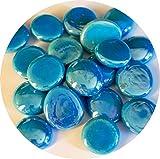mesbilles MeineMurmeln - 250 gr Türkis Deko 60 Mosaiksteine 20 mm Glassteine, Glasnuggets, Steine, Edelsteine