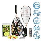 Speedminton® S900 Set – Original Speed Badminton/Crossminton Profi Set mit Carbon Schlägern inkl. 5 Speeder®, Spielfeld, Tasche
